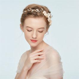 Haarschmuck Braut Haarband-Haardraht Gold Blumen Perlen Vintage N2915 Brautschmuck Haarschmuck Festlich