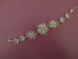 Haarschmuck Braut Haardraht-Haarband Strass Silber N2617 Kopfschmuck Hochzeit