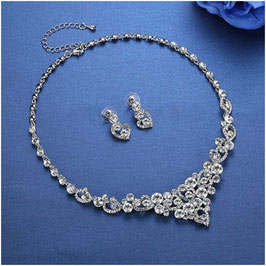 Brautschmuck Set Halskette Ohrringe N58804