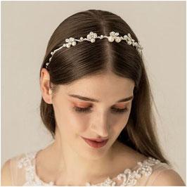 Haarband Perlen Strass Silber Haarschmuck Braut Haarschmuck Hochzeit N26061