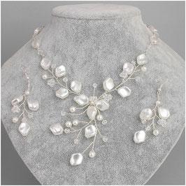 Schmuckset Perlen Brautschmuck Set Perlen N5478