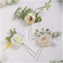 Set 3. Stk. Haarnadeln Blumen Haarschmuck Braut Haarschmuck Hochzeit Haarschmuck Festlich N6283