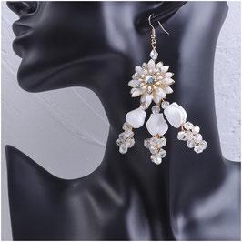 Ohrringe Blumen Perlen Strass N5215