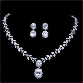 Brautschmuck Set Halskette Ohrringe N58805