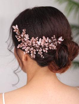 Haardraht Rosegold Perlen Haarschmuck Braut Kopfschmuck Braut Haarschmuck Hochzeit N22559