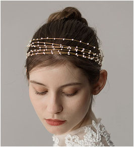 Haarband Gold Perlen Haarschmuck Braut Haarschmuck Hochzeit N2319