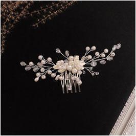 Haarschmuck Braut Haarkamm  Perlen Silber N35012 Haarschmuck Hochzeit