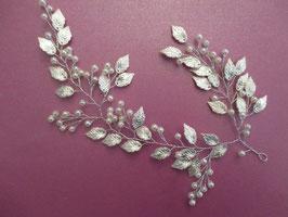 Haarschmuck Braut Haardraht Silber Perlen N22880 Haarschmuck Hochzeit