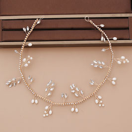 Haarschmuck Braut Haarband Gold Perlen Strass N28150 Haarschmuck Hochzeit Haarschmuck Gold