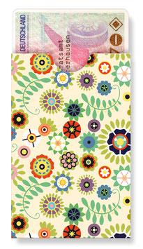 cardbox 130 > Retro-Blumenmuster beige