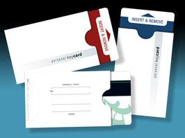 """50 keycard Hüllen - Design """"personal keycard"""""""