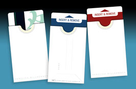 "50 keycard Hüllen - Design ""single white"""