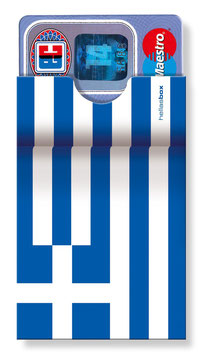 cardbox 122 > Griechenland Flagge