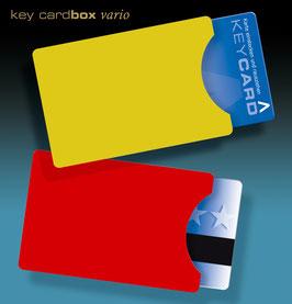 """keycard Hüllen - 50 Kartenhüllen für Hotel-keycards im Scheckkartenformat - Design """"colors"""""""
