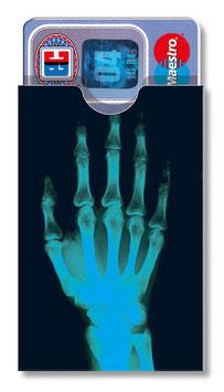 cardbox 095 > Röntgenhand blau