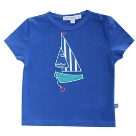 Baby T-Shirt mit Segelboot in royal blue, Artikelnr. 181 25 04