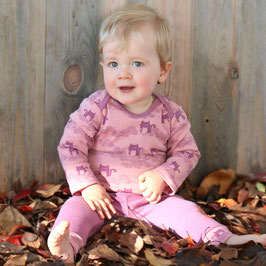 Baby Body Katzendruck in dusty rose-magenta