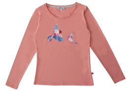 Shirt Mama Vogeldruck in soft rose, Artikelnr. 197 54 01
