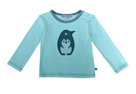 Baby T-Shirt mit Pinguinapplikation in ice
