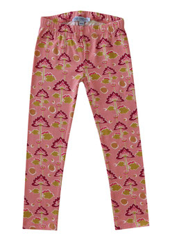 Leggings mit Blumendruck in soft rose-curry, Artikelnr. 197 08 07