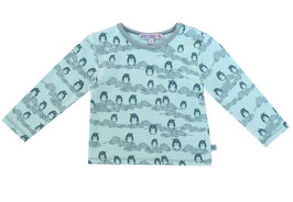 Baby T-Shirt mit Pinguindruck in ice-dark cyan