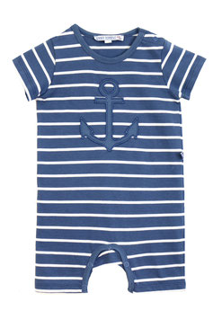 Baby Overall in blue-white mit Anker