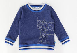Sweatshirt mit Luchsstickerei in dark blue, Artikelnr. 197 11 02