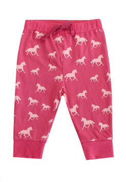 Babyhose mit Pferdedruck in raspberry-light rose, Artikelnr. 181 26 01