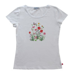 Shirt Mama mit Blumendruck in white, Artikelnr. 191 50 01
