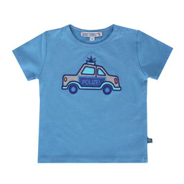 Baby T-Shirt Polizeiauto in cornflower, Artikelnr. 191 40 03