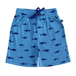 Shorts mit Hai Druck in cornflower-navy, Artikelnr. 191 08 03