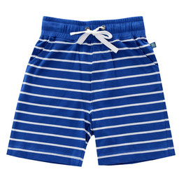 Shorts für Jungen gestreift in royal blue-white, Artikelnr. 181 08 02