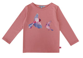 Langarmshirt mit Vogeldruck in soft rose, Artikelnr. 197 01 22