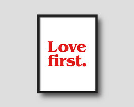 Print 'LOVE FIRST.'