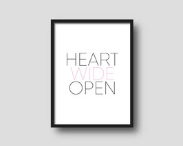 Print 'HEART WIDE OPEN'