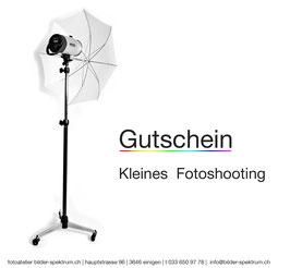 """Gutschein """"Kleines Fotoshooting"""""""