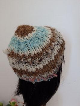 Bonnet en laine de mouton et lama