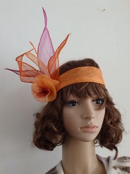 Bandeau en sisal orange
