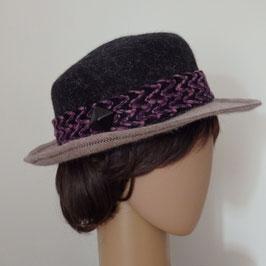 Chapeau bicolore en poils de lapin