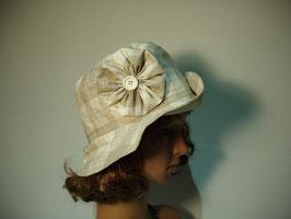 Chapeau de pluie beige à carreaux