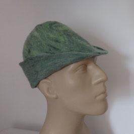 Chapeau médiéval homme en laine feutrée à la main