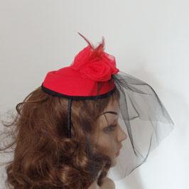 Bibi rouge à voilette