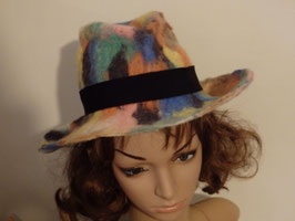 FO23 Chapeau feutre cowboy arlequin