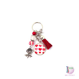 One heart, one love - Porte-clés cabochon