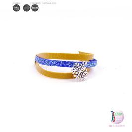 Bandes et flocon - Bracelet