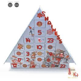 Noël en gris et rouge ❄ Calendrier de l'avent