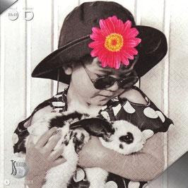 Serviettes La Petite fille au lapin