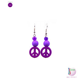 Peace Color - Boucles d'oreilles