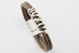 Nappalederband mit Silber