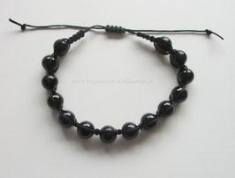 Shamballa-Armband mit schwarzem Turmalin